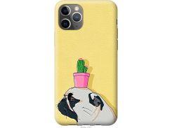 Чехол на iPhone 11 Pro Max Мопс с кактусом (4516u-1723-22700)