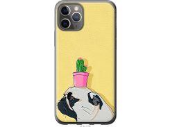 Чехол на iPhone 11 Pro Мопс с кактусом (4516u-1788-22700)