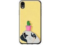 Чехол на iPhone XR Мопс с кактусом (4516u-1560-22700)