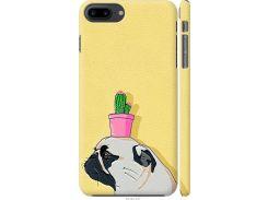 Чехол на iPhone 7 Plus Мопс с кактусом (4516m-337-22700)