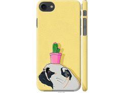 Чехол на iPhone SE 2020 Мопс с кактусом (4516m-2013-22700)