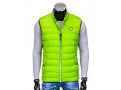 Жилет мужской стеганый B40 - зеленый M, Зеленый