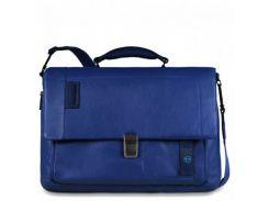 Портфель Piquadro с отдел. д/ноутбука/iPad/iPad Air/iPad mini со сьемным ремнем PULSE/Blue CA3111P15_BLU Синий