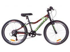"""Горный ; Подростковый Велосипед 24"""" Formula ACID 1.0 rigid 2019 (черно-зеленый с кра"""