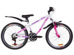 """Подростковый Велосипед 24"""" Discovery FLINT AM Vbr 2019 (бело-малиновый)"""