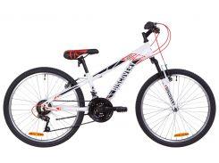 """Подростковый Велосипед 24"""" Discovery RIDER AM Vbr 2019 (бело-красный с серым)"""