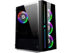 Корпус 1STPLAYER B7-A-R1 Color LED Black без БП (6583192)