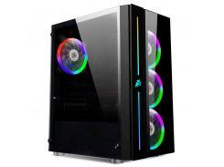 Корпус 1stPlayer B7-A-R1 Color LED Black без БП