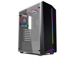 Корпус 1stPlayer R6-A-R1 Color LED без БП Black