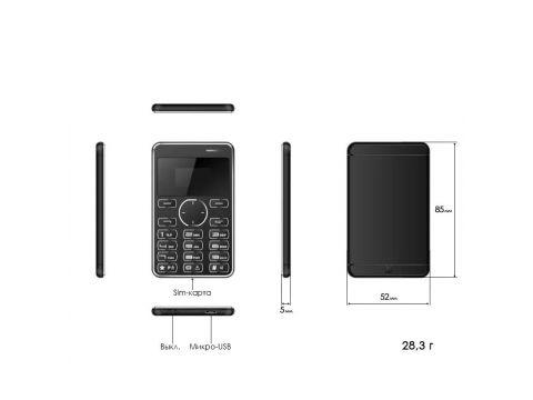 Мобильный мини телефон 2Life S7 Black (nri-829) Киев