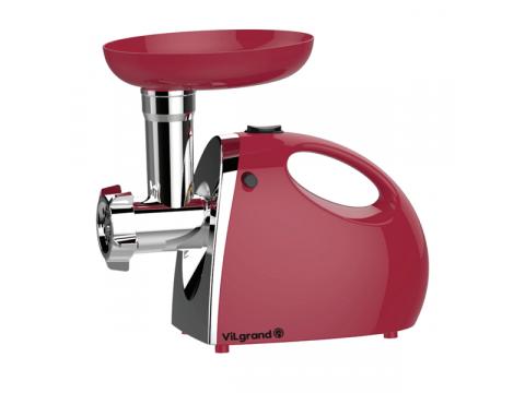 Мясорубка электрическая ViLgrand V206-НMG 2000 Вт 4 ножа + 3 насадки Красный (34-44696)