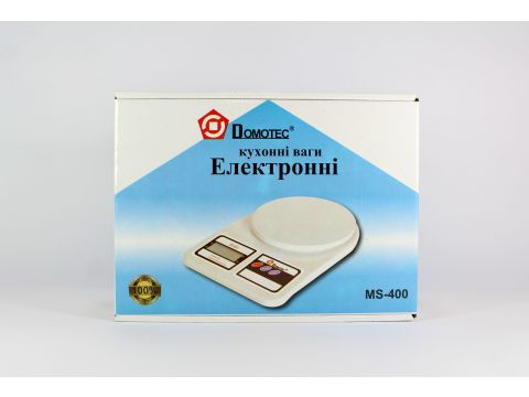 Весы кухонные электронные Domotec ACS MS 400 до 10 кг Белый (46-942645179)