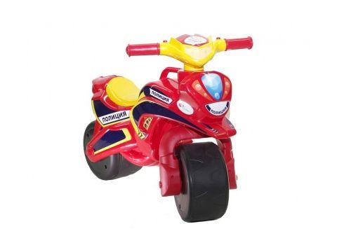 Мотобайк беговел музыкальный Doloni Toys Полиция Красный/Желтый (0139/56)