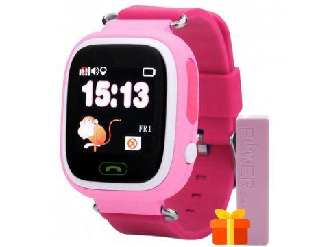 Смарт-часы UWatch Q90 детские с GPS трекером Pink (1058-7791)