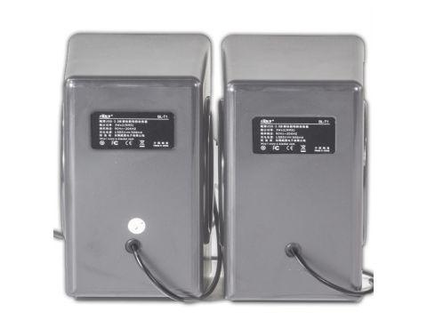 Мультимедийные стерео колонки Ovann T1 USB 3.5 jack Silver (1468-3035)