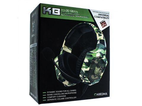 Наушники Onikuma K8 игровая гарнитура для компьютера Green (00007293)
