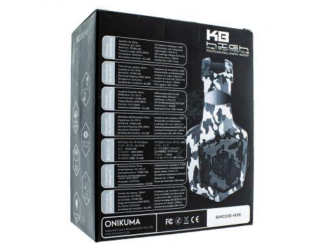 Наушники Onikuma K8 игровая гарнитура для компьютера Grey (00007293)