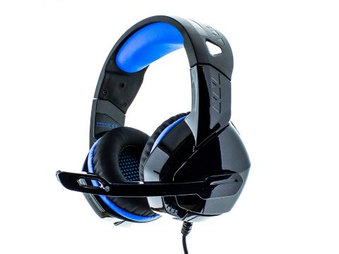 Наушники Phoinkas H-3 игровая гарнитура для компьютера Black-Blue (00007290)