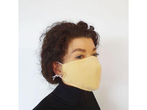 Маска защитная Золушка на лицо многоразовая 2-х слойная Бежевая (М2008)