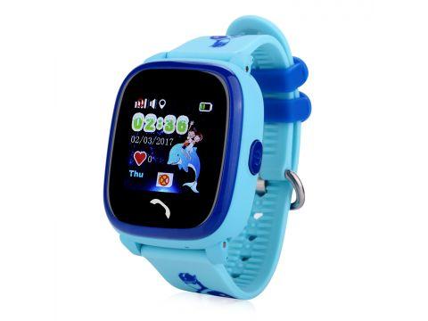 Детские умные часы-телефон с GPS трекером водонепроницаемые Smart Watch Aqua Q300-DF Голубые