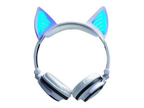 Bluetooth наушники LINX BL108A с кошачьими ушками LED Белые (SUN0480)