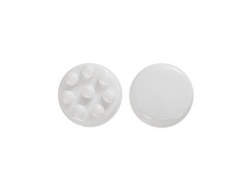 Портативный ручной массажер SUNROZ Monipool Body антицелюлитный для всего тела Белый (SUN1319)