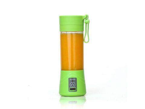 Портативный аккумуляторный блендер SUNROZ Smoothie Maker 380 мл Зеленый (SUN1216)