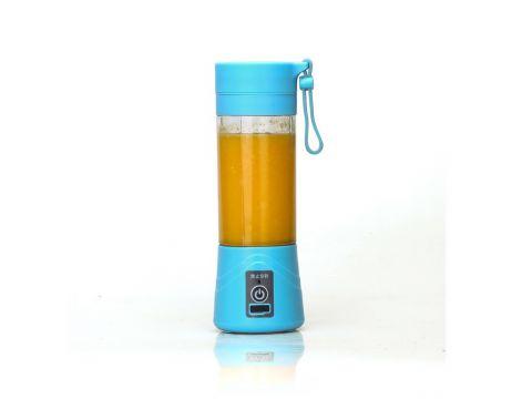 Портативный аккумуляторный блендер SUNROZ Smoothie Maker 380 мл Синий (SUN1217)