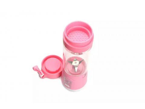 Портативный аккумуляторный блендер SUNROZ Smoothie Maker 380 мл Розовый (SUN1215)