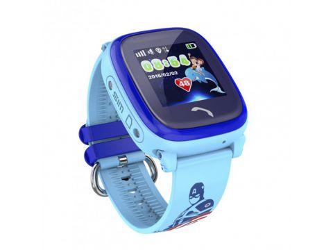Водонепроницаемые часы Smart Baby Watch Aqua DF25-PLUS Голубые (hub_ORXW27562)