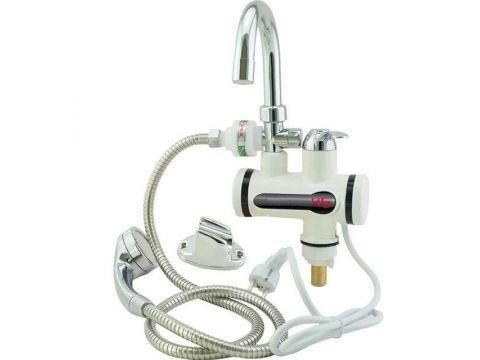Электрический проточный водонагреватель с душем Белый (hub_iSKN82755)