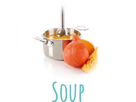 Блендер Trisa 6707.8510 Quick Mix Белый с оранжевым (4622)