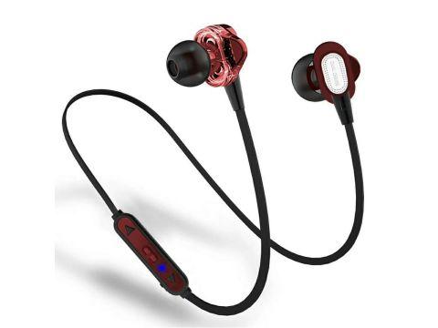 Bluetooth наушники HOOK QL Dual Driver Красный (hub_7kk2pz_2_my)