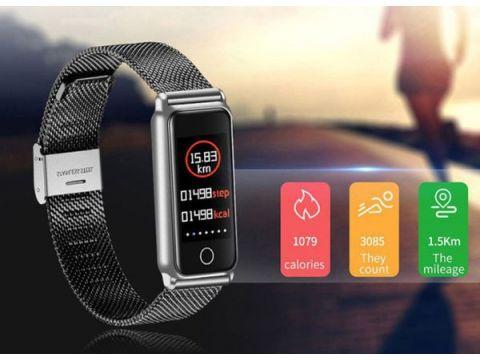 Фитнес-браслет Smart Band UMax Y8 3D дисплей Тонометр Черный (zisP32241)