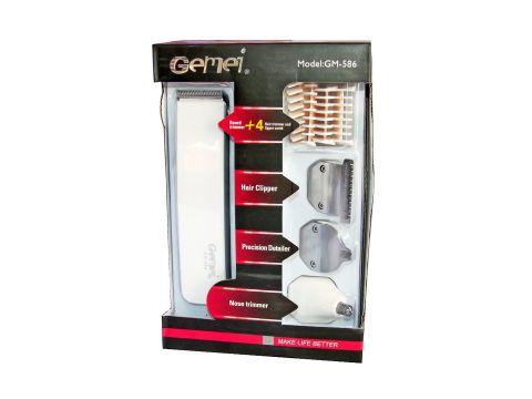 Триммер для бритья и для стрижки бороды Gemei GM-586 4в1 Белый (mx-3)