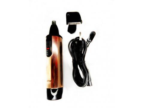 Триммер 2в1 аккумуляторный для носа и ушей Gemei 3006 Gold (ml-51)