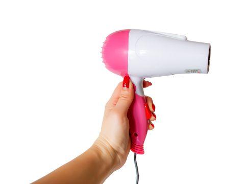 Дорожный фен для волос Wimpex Бело-розовый (2217)