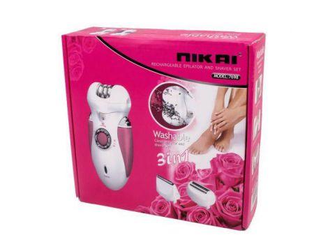 Эпилятор 3 в 1 Nikai 7698 с бритвенной насадкой Фиолетовый с Белым (007159)