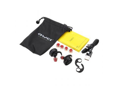 Беспроводные влагонепроницаемые Bluetooth наушники Awei T1 Black (G101001198)