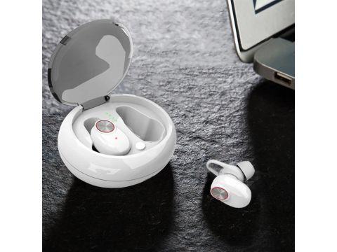 Бездротові навушники SUNROZ V5 TWS Bluetooth 5.0 Білий (SUN3193)