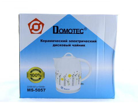 Электрочайник керамический Domotec MS-5057 1.7 л Белый (FL-234)