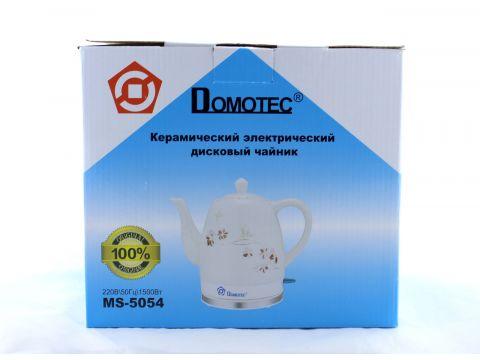 Электрочайник керамический Domotec MS-5054 1.5 л Белый (FL-235)