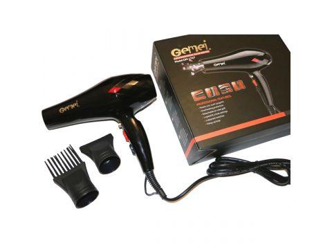 Профессиональный фен для волос Gemei 1767 3000 Вт Черный (200646)