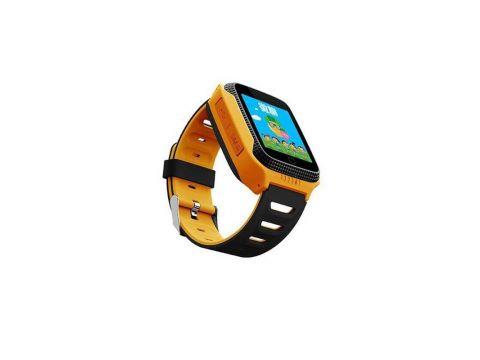 Детские умные водонепроницаемые смарт-часы с GPS/LED-фонариком Q529 шагомер будильник Yellow (SWQ529Y)