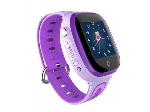 Детские умные водонепроницаемые смарт-часы с GPS и камерой DF31G шагомер будильник Purple (SWDF31GPU)