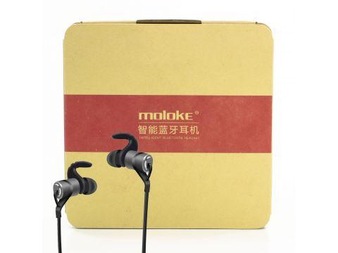Bluetooth гарнитура Moloke D9 беспроводная стерео спортивная Black (3057-9566)