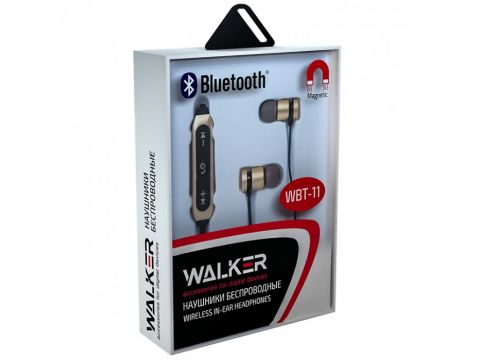 Bluetooth-наушники Walker WBT-11 Золотой