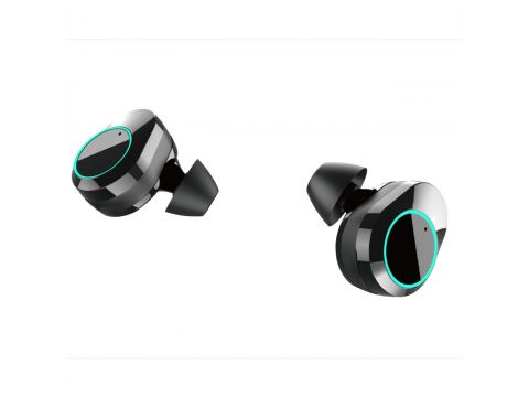 Беспроводные наушники KUMI T5S IPX7 Bluetooth 5.0 с зарядным кейсом Black (3804-10628a)