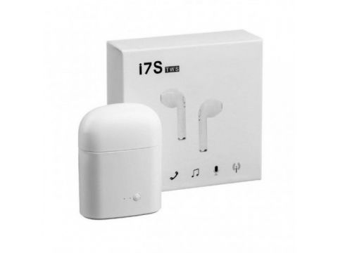 Беспроводные Bluetooth наушники i7S TWS с боксом для зарядки White (au007-hbr)