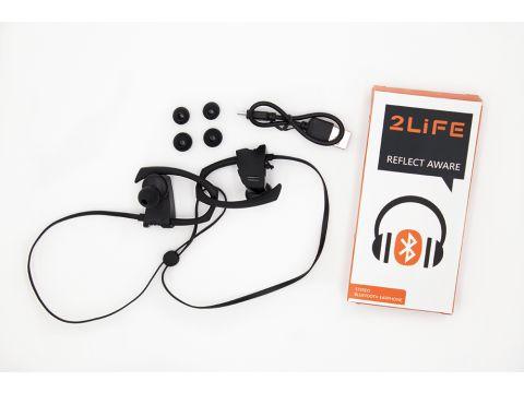 Беспроводные Bluetooth наушники VOLRO FY-Q9 с технологией шумоподавления и защитой IPX5 Black (vol-403)